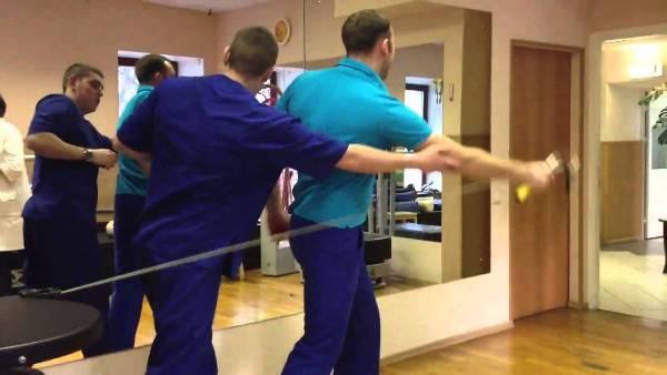 лфк для плечевых и локтевых суставов видео